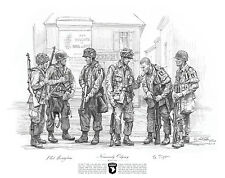 Autographed by 2 Band of Brothers 101st WWII D-Day veterans Gil Cohen Art Print