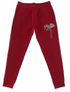 Polo Ralph Lauren Men's Double Knit Graphic Jogger Pants Red NWT Free Shipping