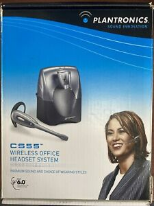 Plantronics CS55 Wireless Office Headset System Tested Working