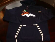 NWT DENVER BRONCOS NIKE THERMA FIT ON FIELD HOODIE SWEATSHIRT XL 2017 $125 NEW !