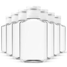 250 Pack x 2 oz (60 ml) Empty Clear PET Plastic Bottles With Flip Top Caps
