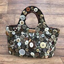 VAL GOLDFINCH DESIGNS HANDMADE BUTTON BAG HANDBAG HAND BAG