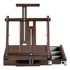 New Kingart 700 Wooden Tabletop Easel W/ Metal Storage Espresso Brown