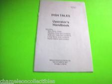 FISH TALES By WILLIAMS 1992 ORIGINAL PINBALL MACHINE OPERATORS MINI HANDBOOK