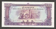 Laos 50 Kip N.D. (1975); UNC; P-22a; L-B304a; Rice paddy; water buffalos