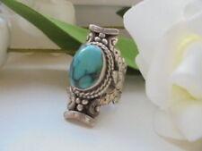 Antike Silberringe Türkis-Farbsteine