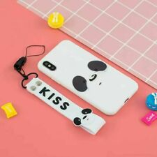 Feather Panda 2D Cute Cartoon Lanyard Hot Soft Case Cover Skin For Various Phone