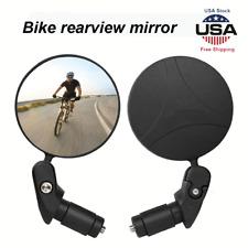 1-pack Mini Rotaty Handlebar Glass Rear view Mirror for Road Bike Bicycle US