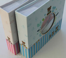 Album photos bébé naissance 200 pochettes 10x15 livre mémo rose ou bleu Neuf