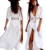 Pop Women Lace Crochet Bikini Beachwear Cover UP Beach Dress Summer Bathing Suit
