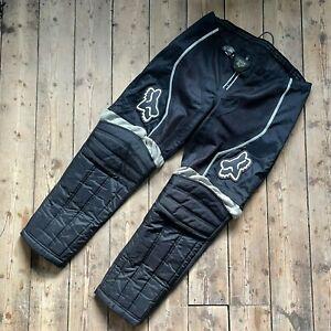 Black / Grey Fox Racing Motorcross Pants - 38W - PRELOVED