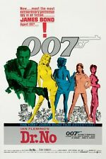 "JAMES BOND POSTER ""DR. NO"" LICENSED ""BRAND NEW"" SEAN CONNERY AS 007"