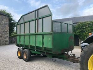 #B1285 Horn 8T grain / silage trailer V tidy Automatic door Delivery available