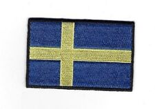 Embroidered SWEDEN Flag (Large) Iron on Sew on Patch Badge HIGH QUALITY APPLIQUE