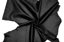 LEDER TIP, 80831-LA Lederreste, anthrazit, perforiert, Laser Cut Design, Blumen