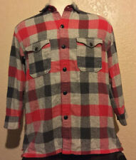 Ralph Lauren Country Men's Size Small Red Gray Check Flannel Long Sleeve Shirt S