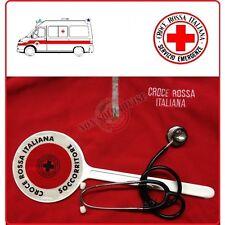 Paletta Segnaletica Ambo le Parti Rosse CRI Croce Rossa Italiana SOCCORRITORE