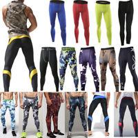 Herren Leggings Sport Jogging Kompressions Hose Fitness Laufhose Funktionswäsche