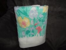 VINTAGE PENNEY COLOR FORUM GARDEN PINK GREEN YELLOW FLORAL BATH TOWEL 24 X 44