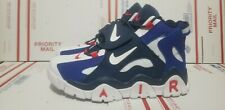 Nike Air Barrage Mid Warriors cd9329 Men Basketball Shoes blue red/white size 10