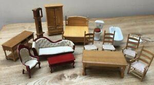 Vintage 1970's Dolls House Bundle 15 Items