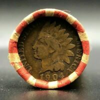 Full Roll Indian Head Pennies (50 Cents) Unsearched Coins - 1859-1909 For Sale