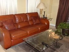 Sofa and Love Seat  Soft Leather.  Good Condition