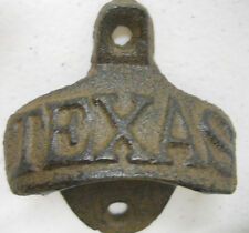 Texas Cast Iron Bottle Opener Rustic Brown Finish Wall Mounted Man Cave Western