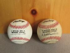 Vintage Pair Rawlings Official National League Baseballs RO-N Cork center Mets