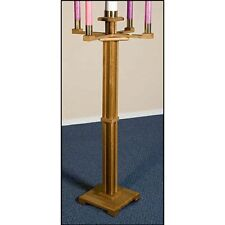 Pecan Stain Advent Candle Stand Maple Hard Wood