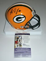 PACKERS Aaron Jones signed mini helmet w/ #33 JSA COA AUTO Autographed Green Bay