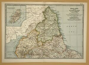 Original  Encyclopaedia Britannica Map from 1903 England Section 1