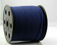 dark blue 10yd 3mm Suede Leather String Jewelry Making Thread Cords