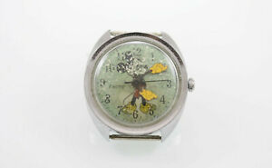 Timex Mens Mickey Mouse Quartz Watch Silver Rare Vintage Disney nonworking