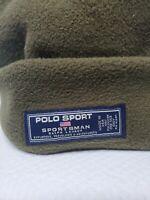 Vintage Polo Sport Sportsman Olive Ralph Lauren USA Multi Beanie/Muffler