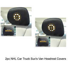 New NHL Boston Bruins Car & Truck Embroidered Headrest Covers Set Of 2