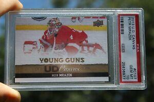 2013-14 Petr Mrazek UD Upper Deck Young Guns Canvas # C107 PSA10 Rookie RC