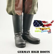 """1/6 German soldier Boots military WWII for 12"""" male figure Hot toys Phicen ❶USA❶"""