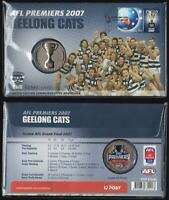 Ltd Ed. #2932 AFL PREMIERS GEELONG CATS PNC 2007 STAMP  MEDALLION PERFECT