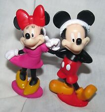 Disney Santa Mickey & Minnie Mouse Christmas Village Figure Figurine Cake Topper