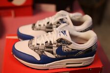sale retailer 590a5 19921 NIKE AIR MAX 1 PRINT AQ0927-100 ATMOS WE LOVE NIKE WHITE ROYAL GREY DS
