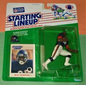 1988 NEAL ANDERSON da Chicago Bears Rookie #35 *FREE_s/h* HOF Starting Lineup