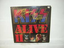 KISS SIGNED LP ALIVE 2 1977 GENE SIMMONS PAUL STANLEY ACE FREHLEY