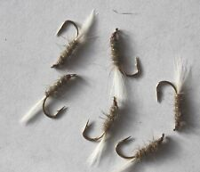 6 No. Gold Ribbed Hares Ear GRHE with white tail -  size 10 Ref N41