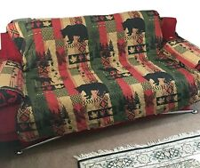 Beatrice Home Fashions Cabin Lodge Sofa Couch Protector Slipcover Bear Moose Elk