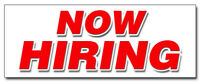 """12"""" NOW HIRING DECAL sticker apply inside hiring hire jobs full part time"""