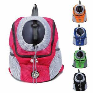 Portable Dog Travel Backpack Out Double Shoulder Outdoor Pet Dog Carrier Bag New