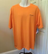 Nwt! Columbia Omni Wick Meeker Peak Short Sleeve Orange Fish Shirt Men's 2Xl $30