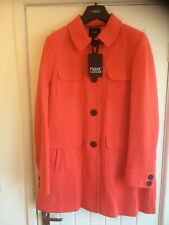 NEXT BNWT RRP£60 SIZE 16 ladies winter coat coral pink/coral lined