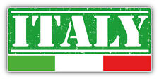 "Italy Grunge Travel Stamp Car Bumper Sticker Decal 6"" x 3"""